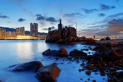 Hong Kong Lei Yue Mun-Sonnenuntergang lizenzfreies stockbild