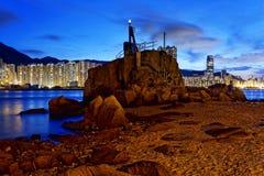 Hong Kong Lei Yue Mun sunset Royalty Free Stock Photos