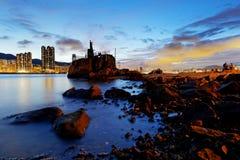 Hong Kong Lei Yue Mun sunset Royalty Free Stock Images