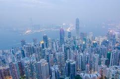 Hong Kong les scènes, port de Victoria de la vue maximale d'oiseau, Image libre de droits