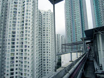 Hong kong life buildings view Royalty Free Stock Photos