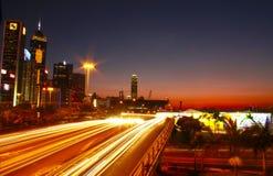 Hong Kong Light-Effekt Lizenzfreies Stockfoto