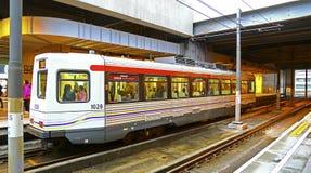 Hong kong light rail train Royalty Free Stock Image