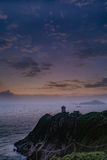 Hong Kong lighthouse. The best view in Hong Kong Island to see the sun rise Royalty Free Stock Photo