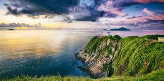 Hong Kong lighthouse during sunrise Royalty Free Stock Photos