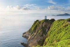 Hong Kong lighthouse during sunrise Royalty Free Stock Image
