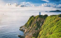 Hong Kong lighthouse during sunrise Stock Images