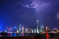 Hong Kong Lightning (2) Royalty Free Stock Photos
