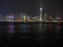 hong kong lights Στοκ Φωτογραφίες