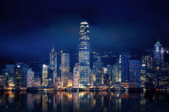 Hong Kong Lights. Amazing Hong Kong city lit up at night Royalty Free Stock Image