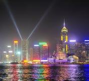 Hong Kong lights show Royalty Free Stock Photography