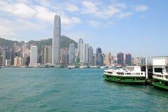 hong kong linia horyzontu fotografia stock