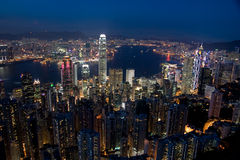Hong Kong linia horyzontu obraz royalty free