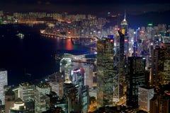 Hong Kong linia horyzontu zdjęcie stock