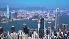 Hong Kong linia horyzontu zbiory wideo