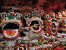 Hong Kong lion dance costume. Costume used for traditional event lion dance during festival and celebration Stock Photos