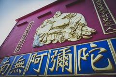 Hong Kong, Listopad 2018 - dziesięcia tysięcego Buddhas monasteru mężczyzny sadło Sze fotografia royalty free