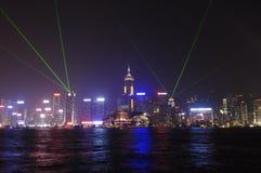 Hong Kong ljus symfoni Arkivbilder