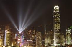 Hong Kong ljus symfoni Arkivfoton