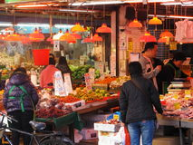 Hong Kong locals buying provisions Stock Photo
