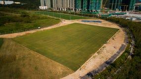 Hong Kong Lohas Park. Football ground Royalty Free Stock Image