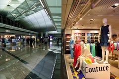 Hong Kong lotniska międzynarodowego wnętrze Zdjęcia Royalty Free