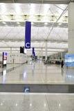 Hong Kong lotniska międzynarodowego wnętrze Zdjęcie Stock