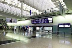 Hong Kong lotniska międzynarodowego wnętrze Obraz Royalty Free