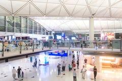 Hong Kong lotniska międzynarodowego terminal Obraz Royalty Free