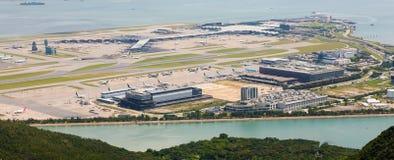 Hong Kong lotnisko międzynarodowe - Chek podołek Kok Zdjęcia Royalty Free
