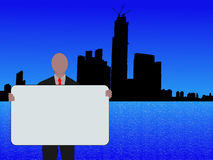 Hong kong ludzi biznesu royalty ilustracja