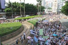 Hong Kong 1° luglio marcia 2014 Fotografia Stock