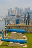 HONG KONG - 15 maart, 2009: Het traditionele signaal van het Noondaykanon Royalty-vrije Stock Afbeelding