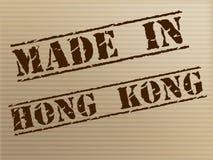 Hong Kong Made Represents Trade Manufacturing And Manufacturer Royalty Free Stock Photos