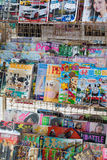 Hong Kong Magazines. Magazine shelf of stall, Hong Kong Royalty Free Stock Images