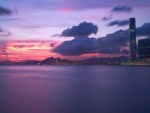 Hong Kong Magic Hour. Hong Kong beautiful magic hour royalty free stock images