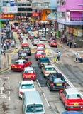 HONG KONG - 11. MAI 2014: Hong Kong-Verkehr an einem beschäftigten Tag Das C Stockbilder