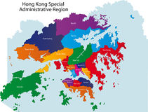 Hong Kong map Stock Image