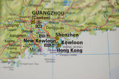 Hong Kong Map Royalty Free Stock Photo