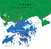 Hong Kong map Stock Photography