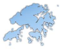 Hong Kong map Royalty Free Stock Photo