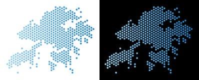 Hong Kong Map Hexagonal Abstraction ilustração royalty free