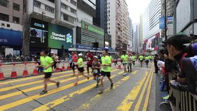 Hong Kong Marathon 2018 stock footage