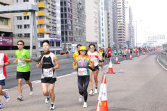 Hong Kong Marathon 2012 Stock Photo