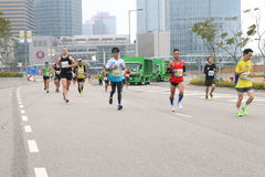 Hong Kong Marathon 2014 Royalty Free Stock Images