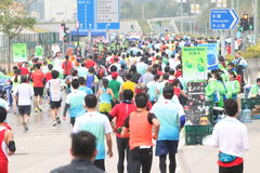Hong Kong Marathon 2014 Stock Photography