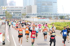Hong Kong Marathon 2014 Royalty Free Stock Photography