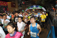 Hong Kong Marathon 2014 Immagine Stock