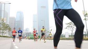 Hong Kong Marathon 2014 almacen de video