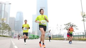 Hong Kong Marathon 2014 stock video